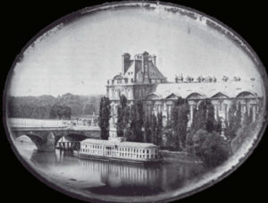 The louvre from the left bank of seine